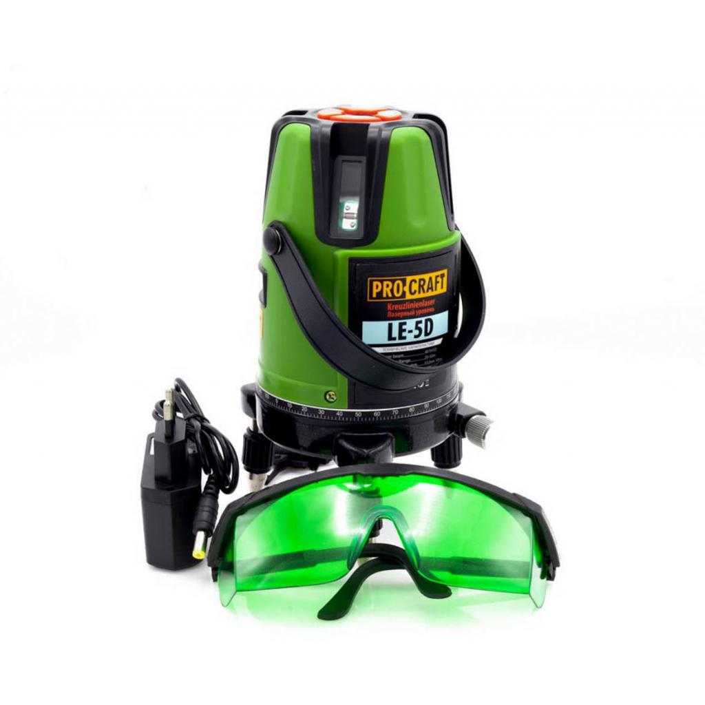 Лазерный уровень Procraft LE-5D (с зеленым диодом) - Фотография №2