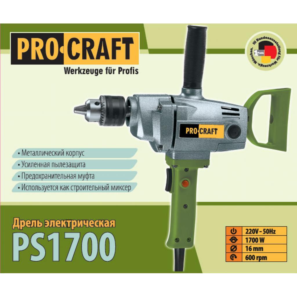 Дрель Procraft PS1700/16 - Фотография №3