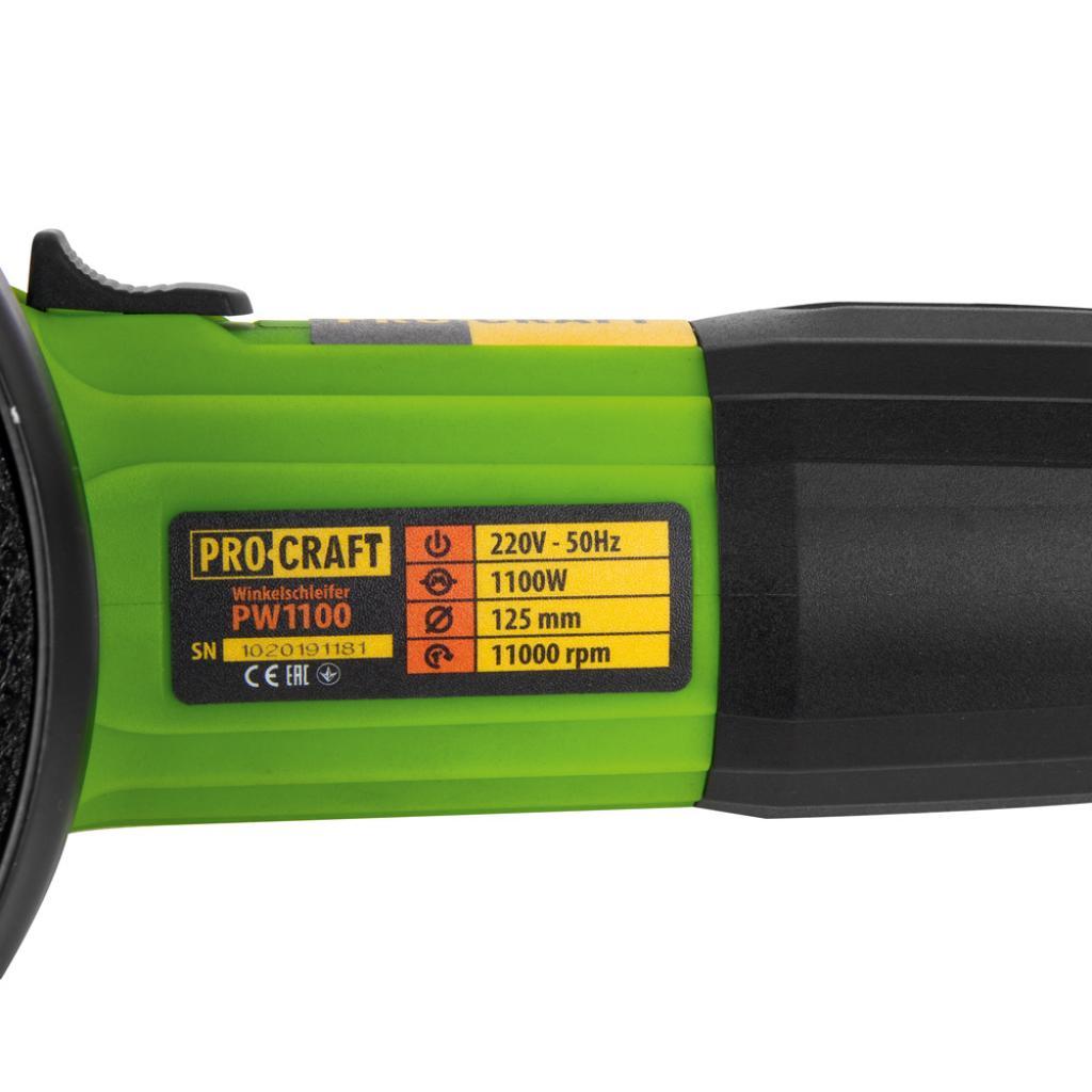 Углошлифовальная машина Procraft PW1100E 125 мм - Фотография №4