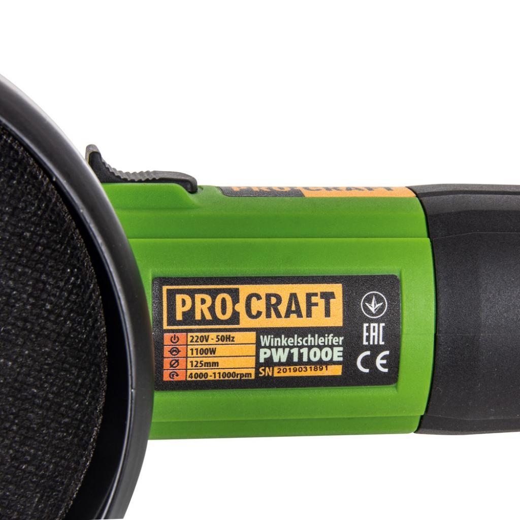 Углошлифовальная машина Procraft PW1100E 125 мм - Фотография №1