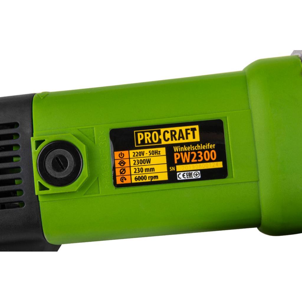 Углошлифовальная машина Procraft PW2300 230 мм - Фотография №6