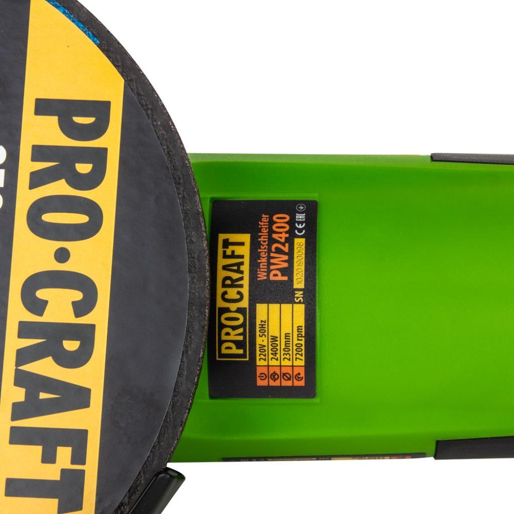 Углошлифовальная машина Procraft PW2400 230 мм - Фотография №2