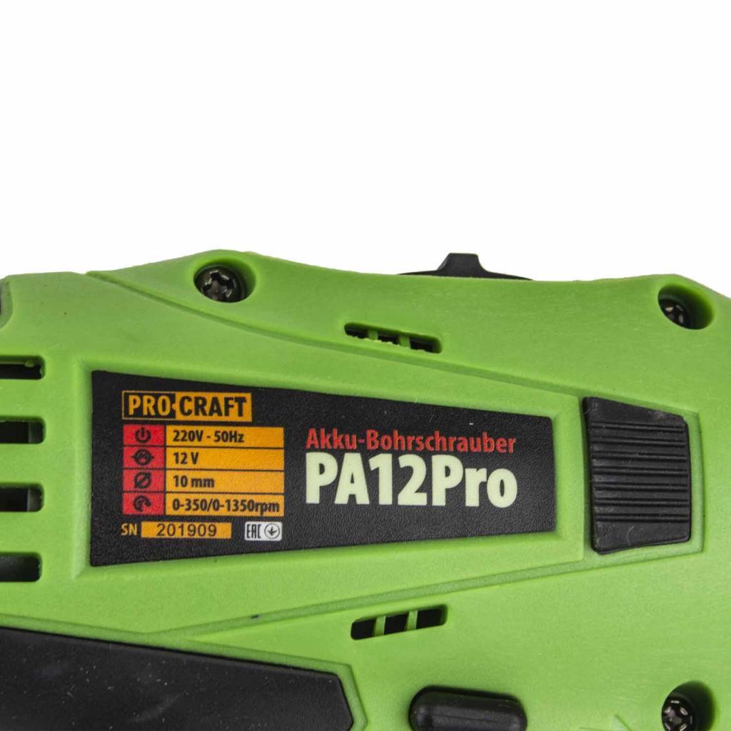 Шуруповерт Procraft PA12PRO - Фотография №4