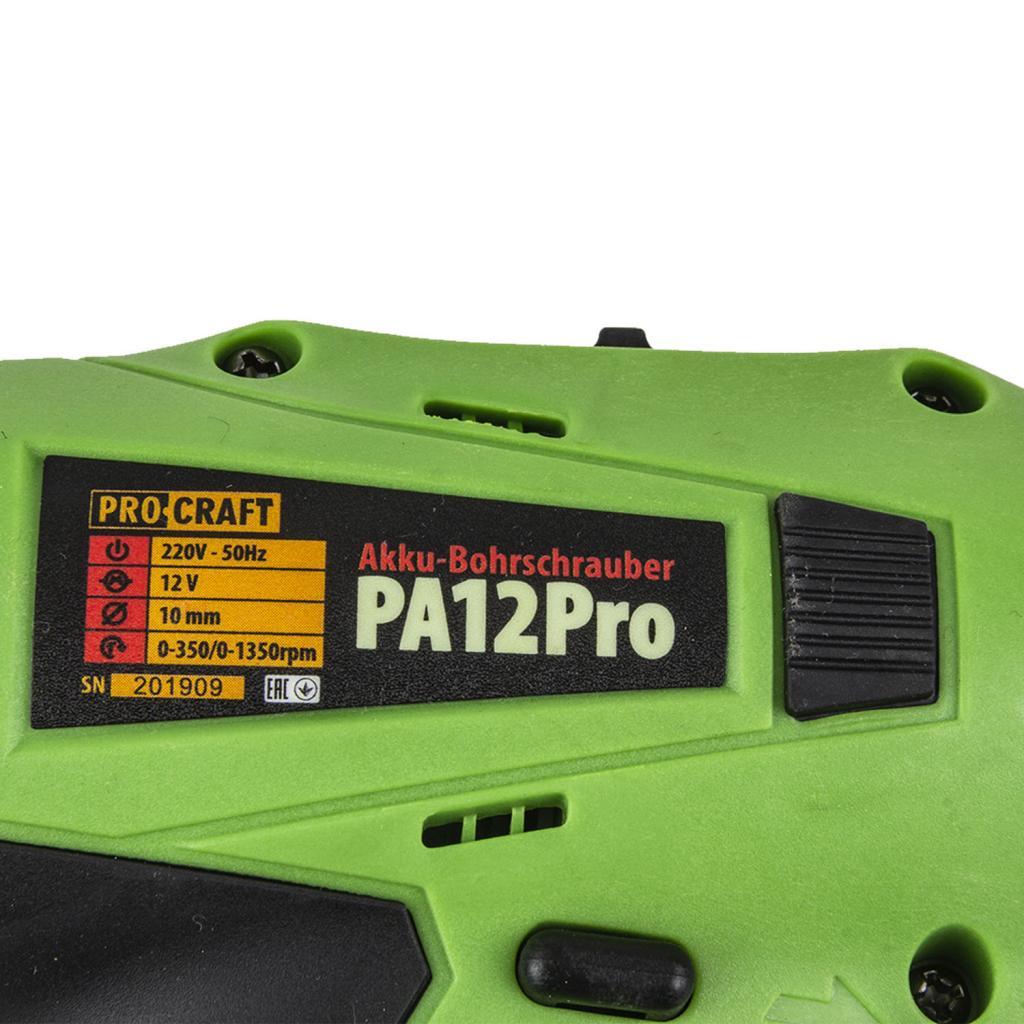Шуруповерт Procraft PA12PRO c DFR патроном - Фотография №3