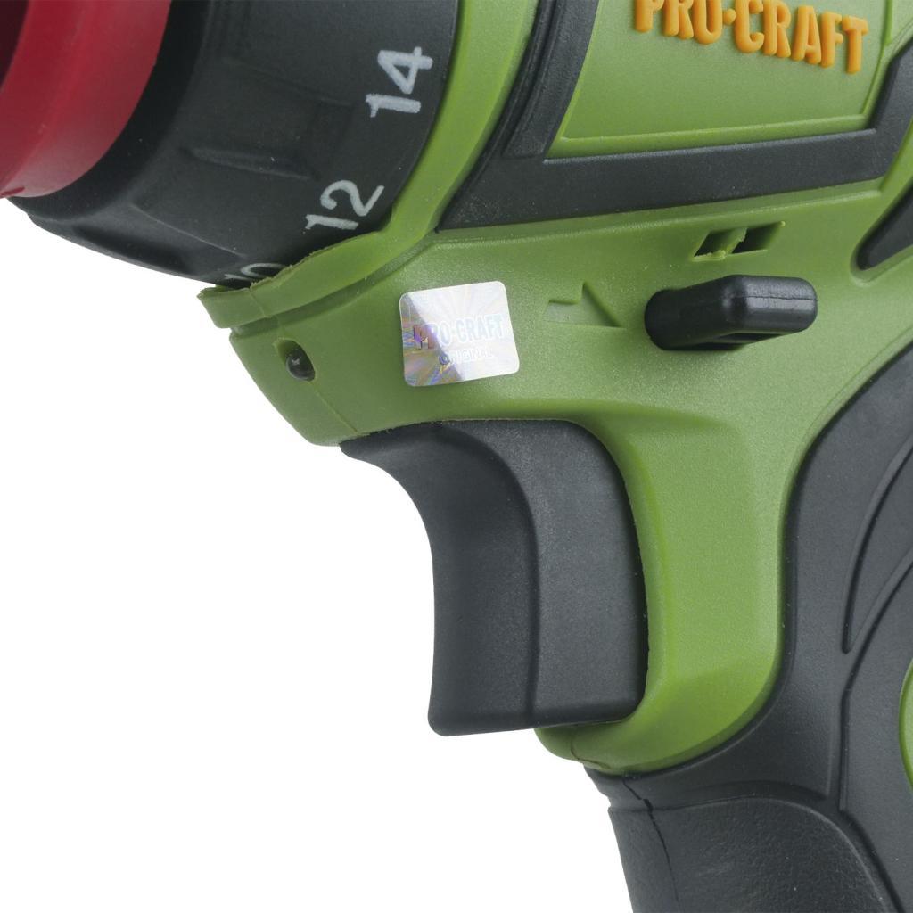 Шуруповерт Procraft PA18PRO с DFR патроном и набор инструмента - Фотография №6