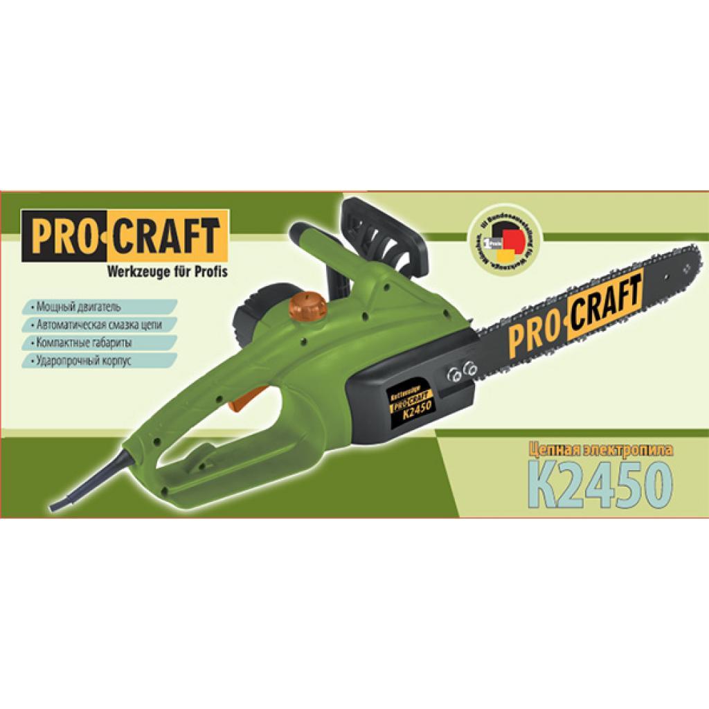 Цепная пила Procraft K2450 боковая - Фотография №1