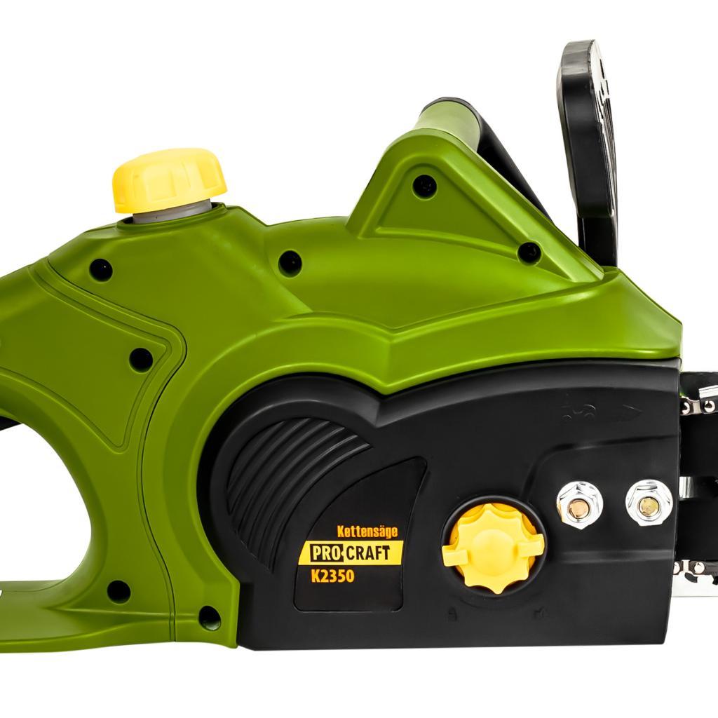 Цепная пила Procraft K2350 боковая (2 шины 40, 2 цепи 40) - Фотография №4